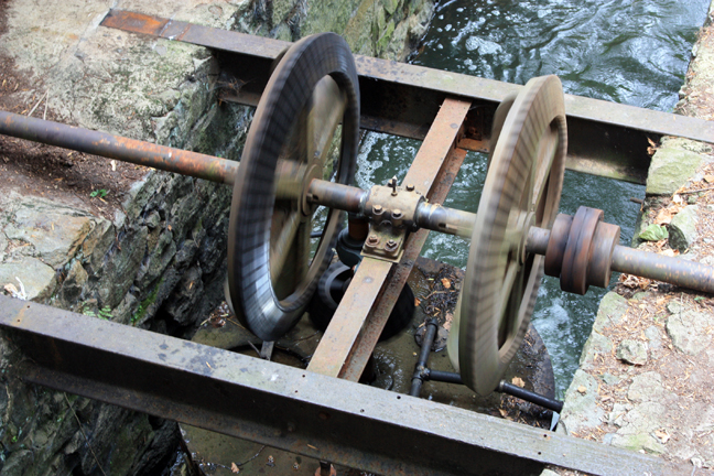 Water turbine at Du Pont gunpowder mill
