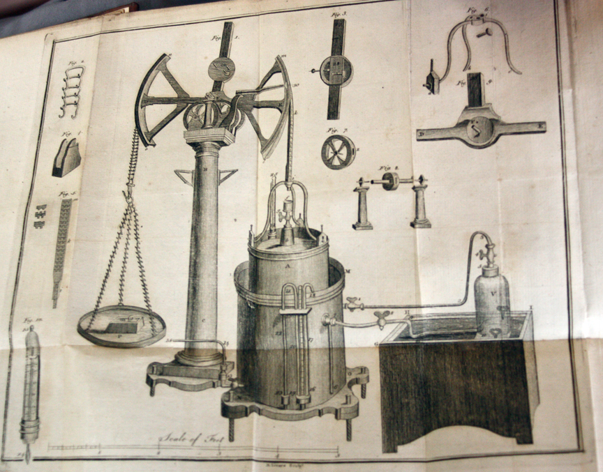 """Diagram from """"Elements of Chemistry"""" by Lavoisier"""