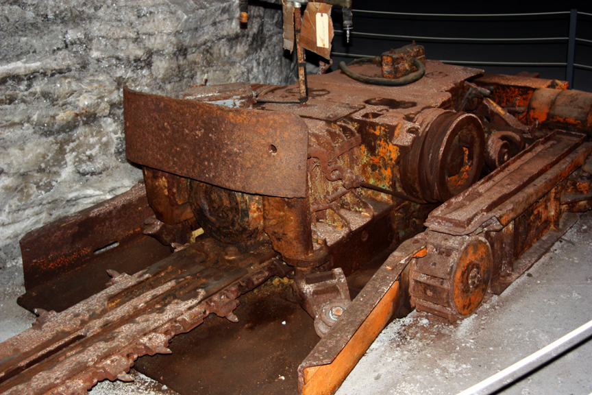 Undercutter machine in the Kansas Salt Mine