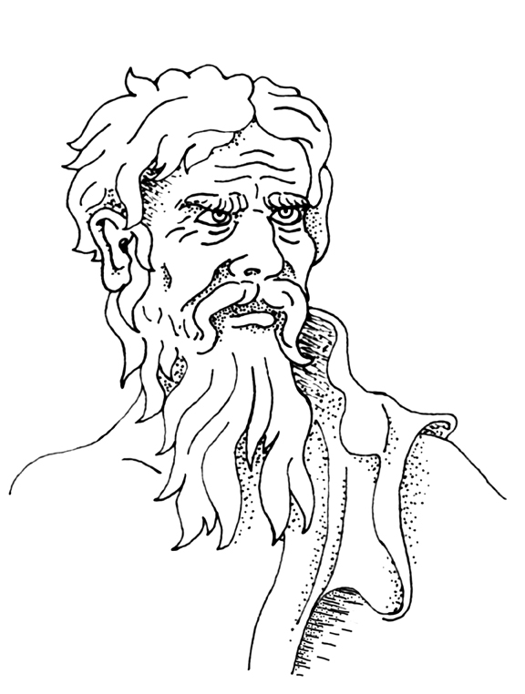 Drawing of Heraclitus