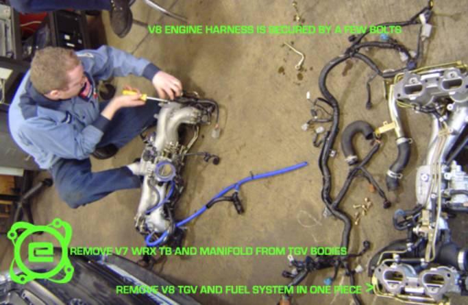 2002 subaru wrx ecu wiring diagram ga15 carburetor ej25 engine installation guide you must then install the harness to intake manifold assembly
