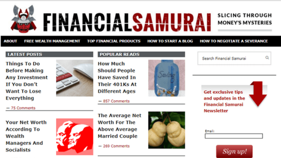 Follow Friday – Financial Samurai