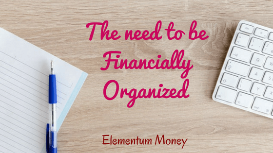 Be financially organized
