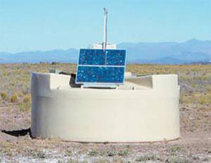 Детектор частиц обсерватории Пьер Оже. Изображение: «Наука и жизнь»