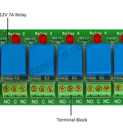 8channel relay board watermark connect vcc to 12v  [ 3000 x 1197 Pixel ]