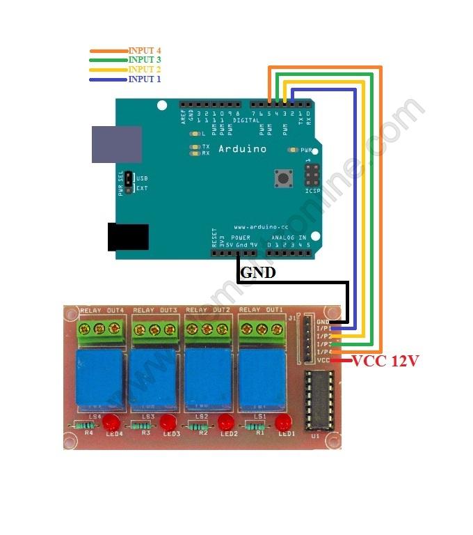 Relay Board Arduino Wiring
