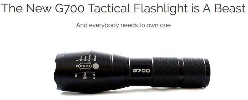 Lumitact G700 olcsó kínai elemlámpa