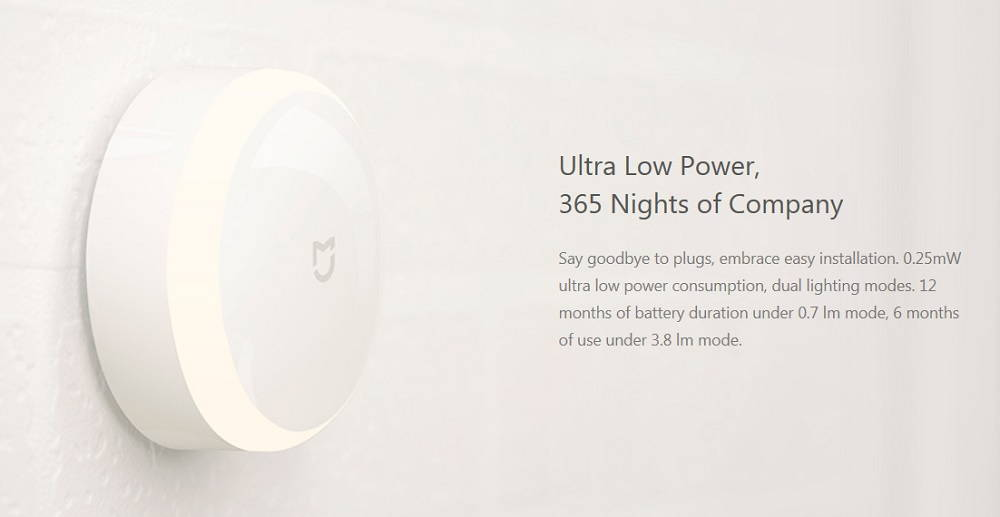 Xiaomi Mijia Night light battery banner