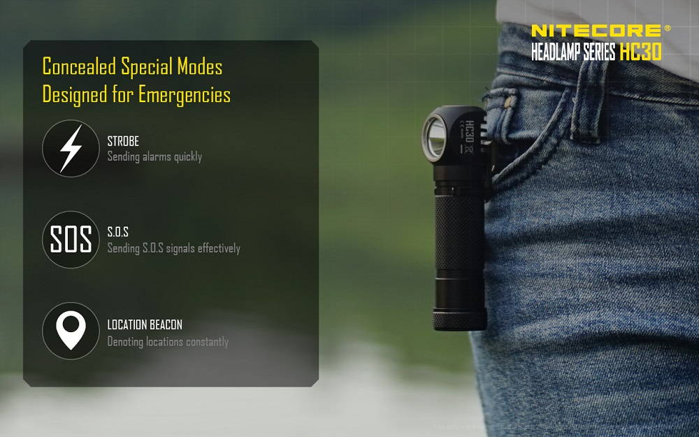 Nitecore HC30 special modes banner