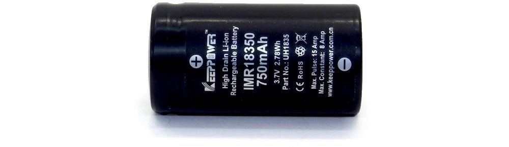KeepPower IMR 18350 lítium-ion akku