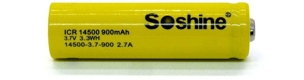 Soshine ICR 14500 lítium-ion akku