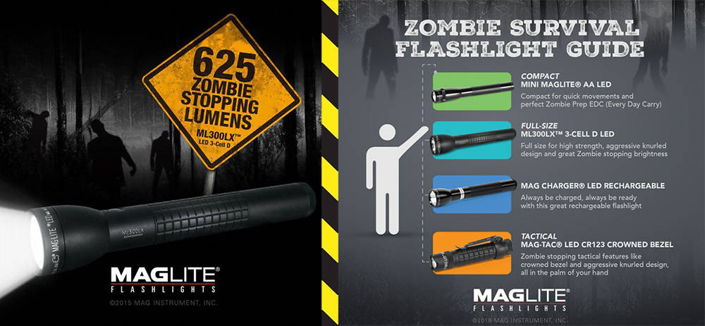 Maglite ML300LX zombie banner