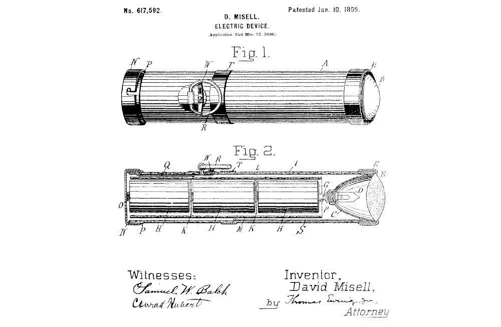 U.S. Patent No. 617,592 picture