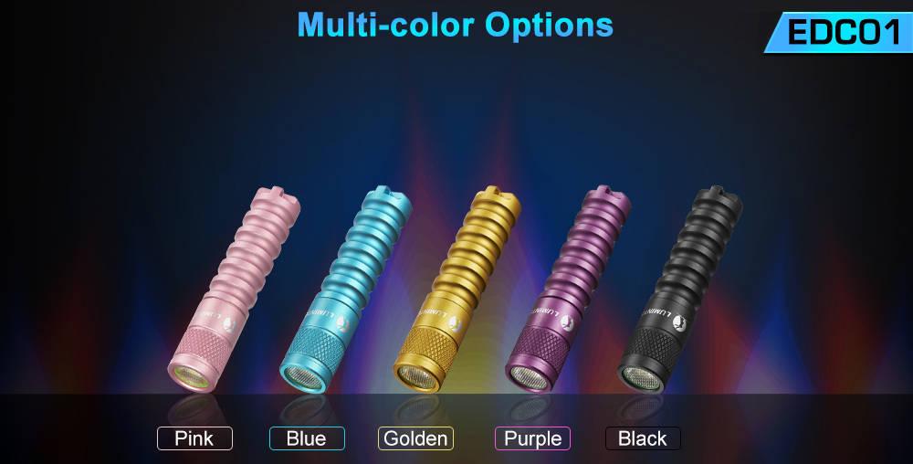 Lumintop EDC01 colors banner