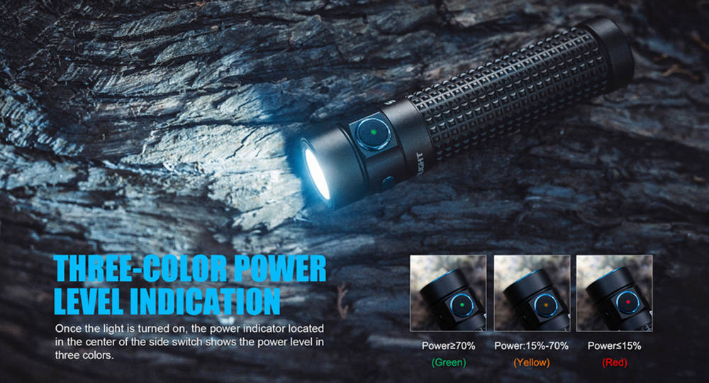 Olight S2R Baton II power indicator banner