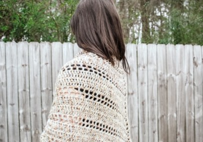 Spanish Moss Crochet Wrap on