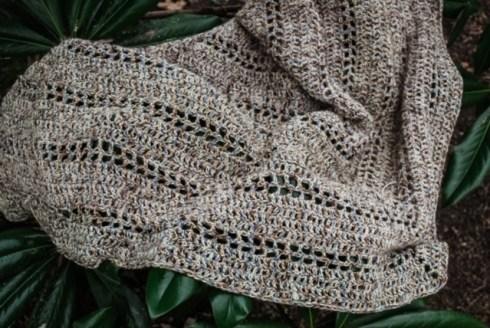 Spanish Moss Crochet Wrap