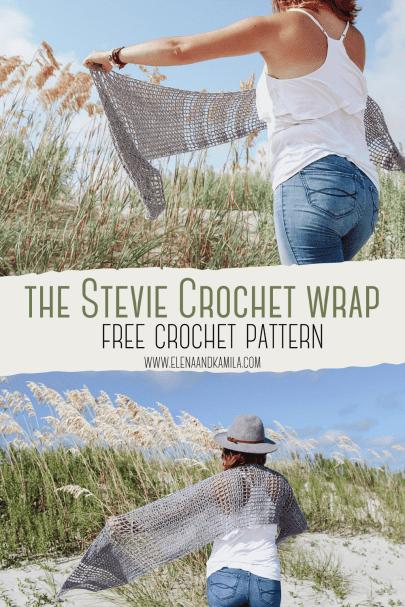 The Stevie crochet wrap pin