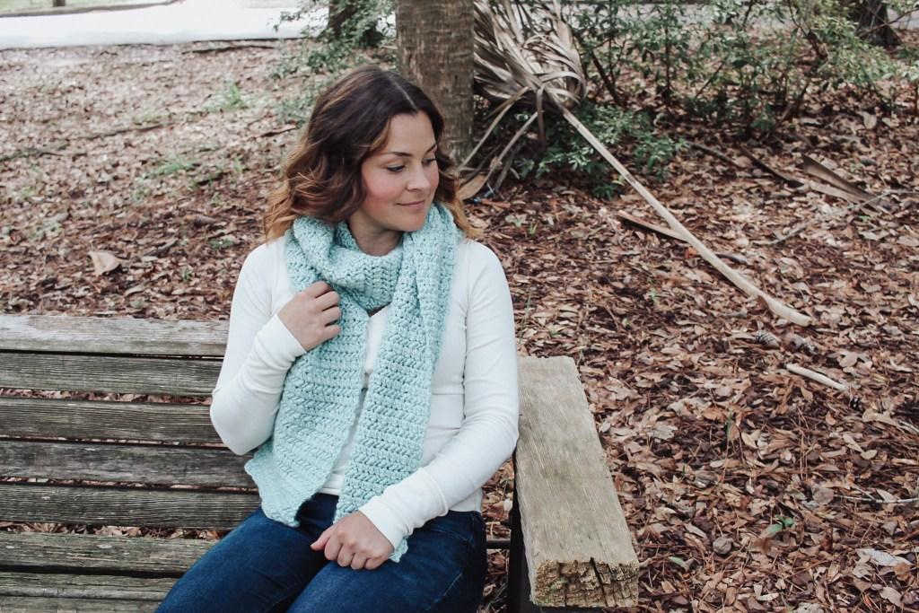 Water crochet scarf