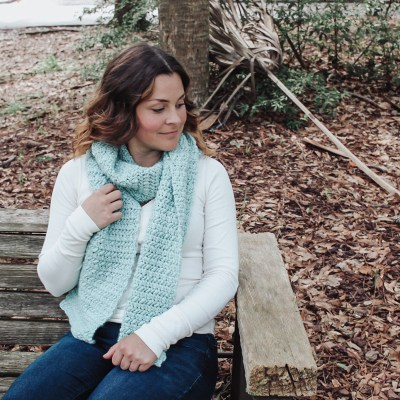 The Waterfall Crochet Scarf