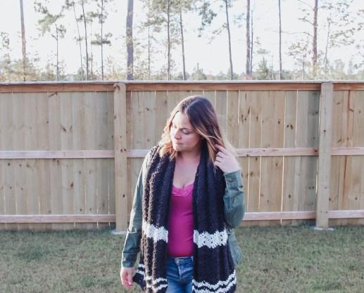 Twin rivers crochet scarf pattern