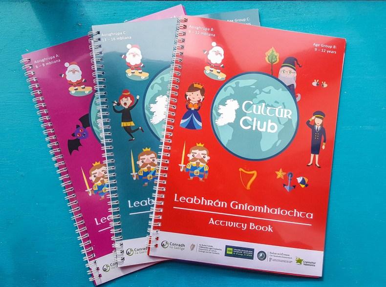 Cultúr Club booklets, Conradh na Gaeilge, graphic design Dublin
