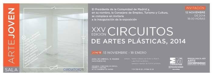 Invitación exposición CIRCUITOS XXV