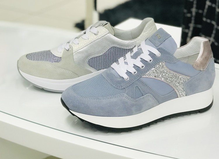 due modelli di sneakers di Nero Giardini della Nuova collezione 2019