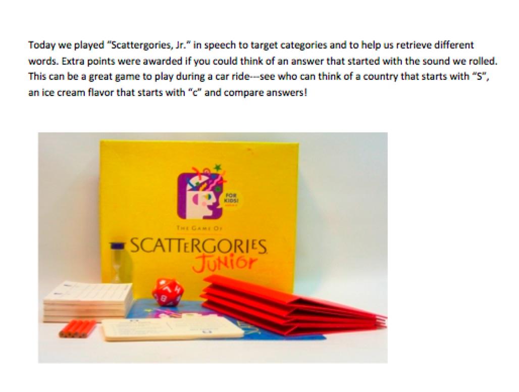 Scattergories Jr