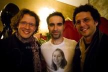 NaVil junto a los hermanos Pablo y Alberto Martos de Garnati Ensemble