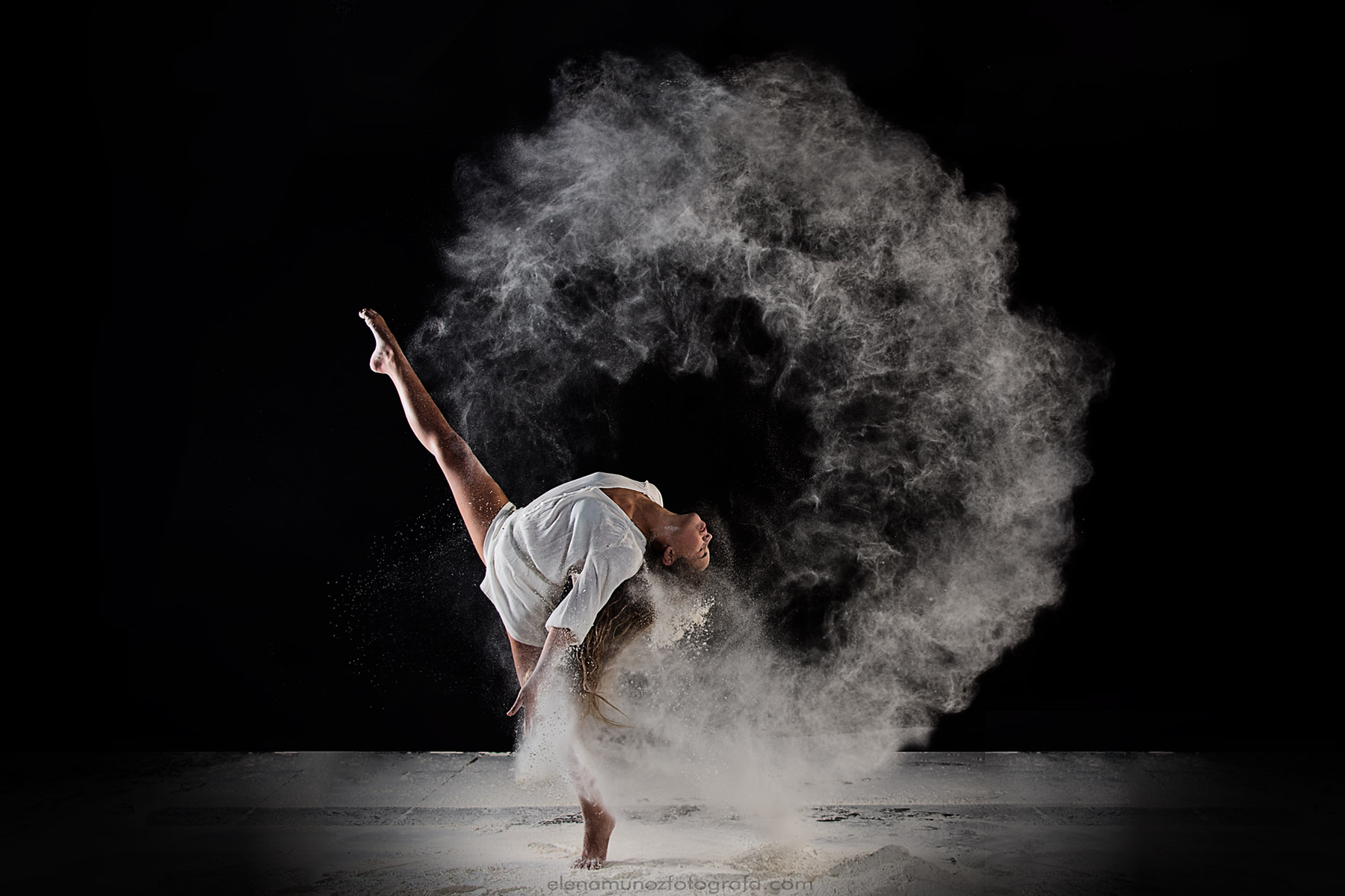Flour dance photography.