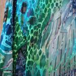 Watercolors Short, Beaded Jacket Fabric