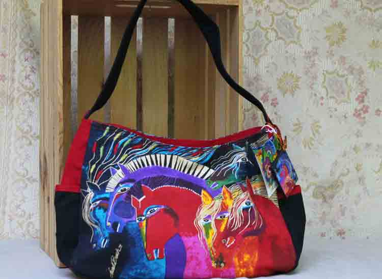 Laurel Burch bag Wild Horses of Fire LB4843