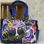 Laurel Burch bag Carlotta's Cats LB5493