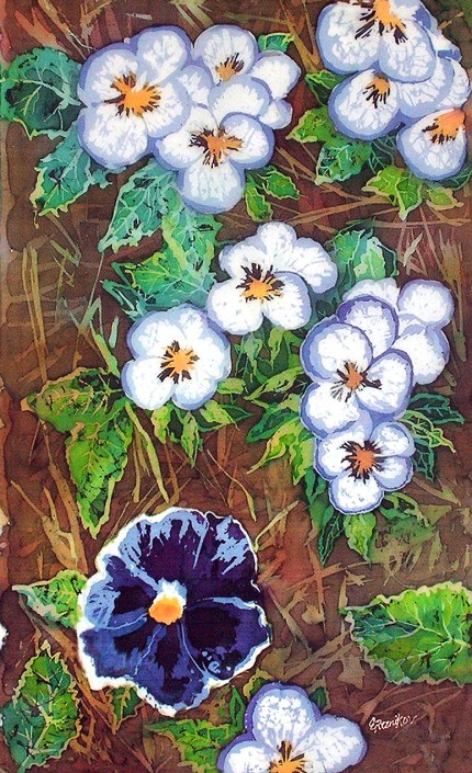 Pansies on Ground