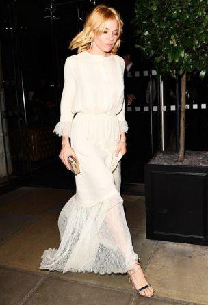 sienna miller white dress