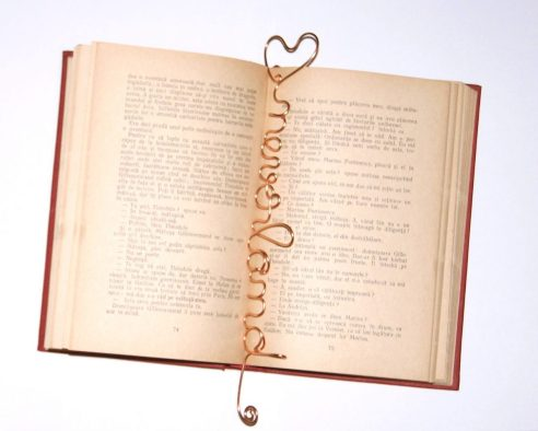 semn de carte cuvinte aurite