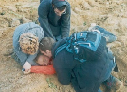 Rachel_Corrie_crushed_by_bulldozer