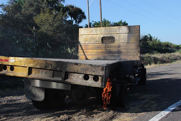 Camión quemada