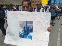 No Queremos Policias Asesinos. Salinas Police Officers shot and killed Osman Hernandez at Mi Pueblo Market on May 9.