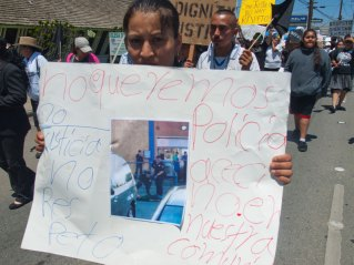 No Queremos Policias Asesinos. Salinas Police Officers shot and killed Osman Hernandez at Mi Pueblo Market on May 9.