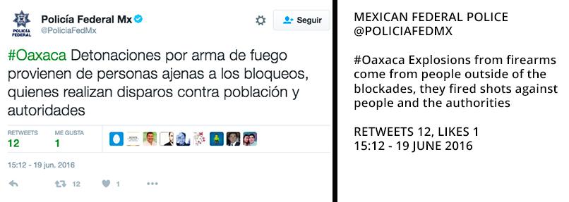 Federal Police tweet