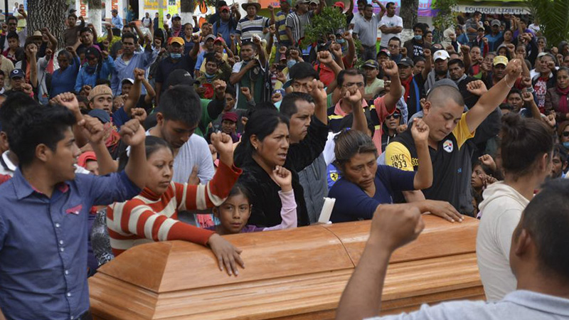 Funeral for one of those killed by the state in Nochixtlán.