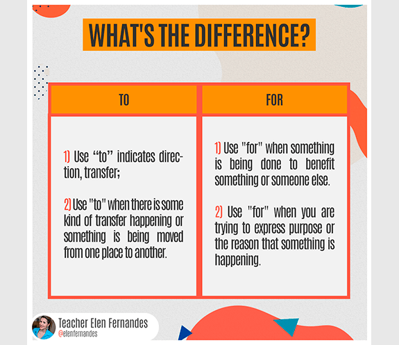 BLOG TO X FOR 01 - What's the difference: TO x FOR