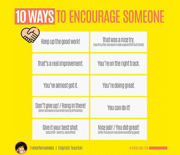 BLOG 10 FORMAS DE ENCORAJAR - 10 formas de encorajar/apoiar alguém.