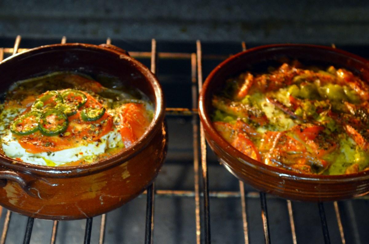 Bouyiourdi (Spicy Baked Feta)