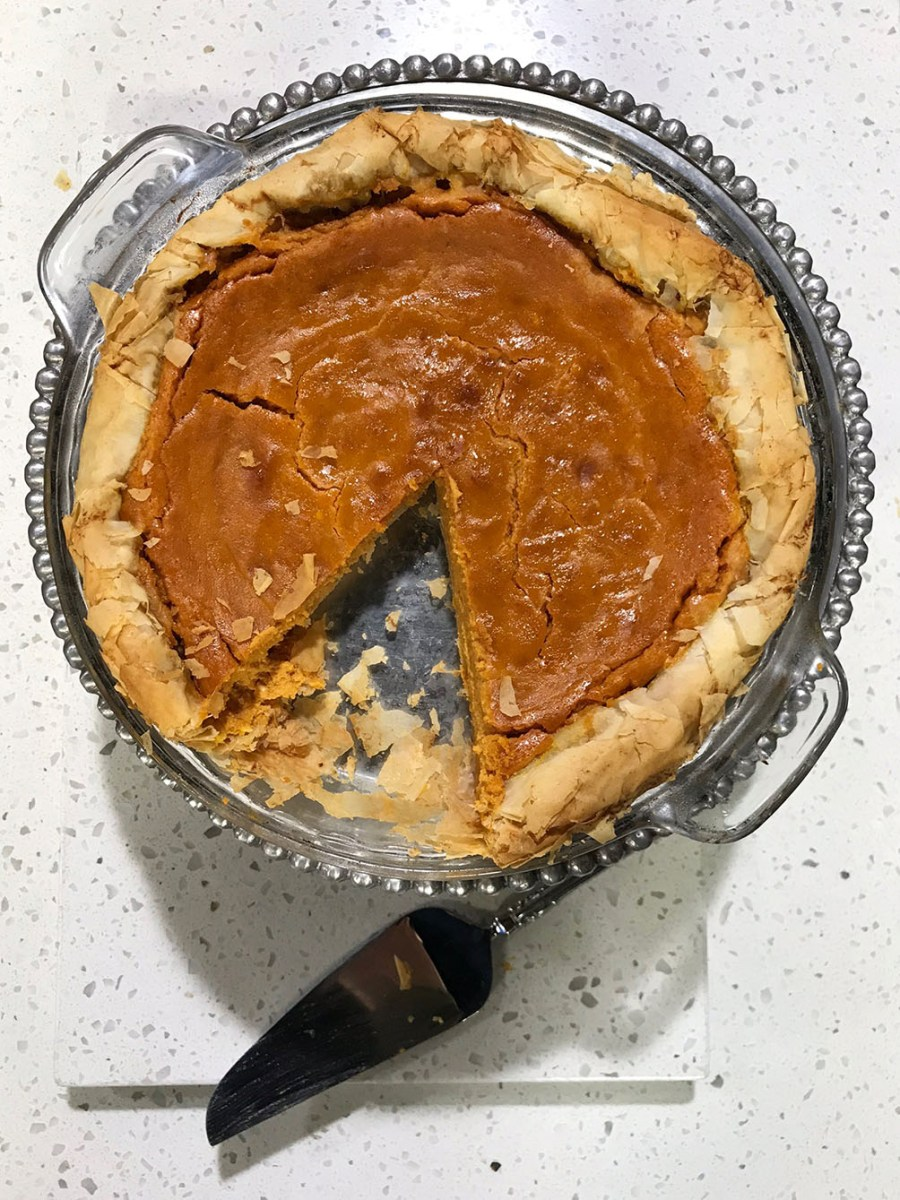 Pumpkin Pie with a Phyllo Crust