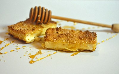 Fried Feta with Sesame Seeds