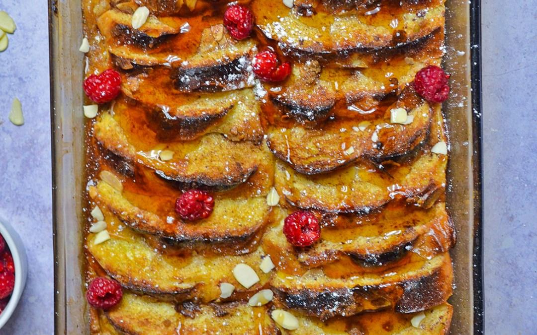 Tsoureki French Toast Casserole