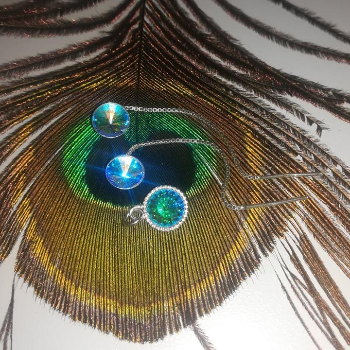 bijuterii argint cu cristale swarovski
